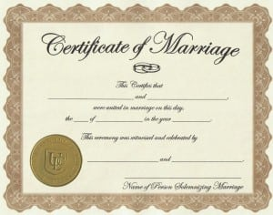 Marriage Certificate Template Formats Examples In Word