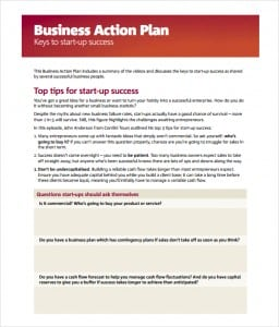 Business Action Plan Template Image 111