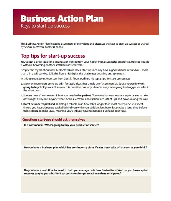 Business Plan Simple Template