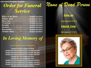 Funeral Program Template - formats, Examples in Word Excel
