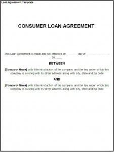 loan agreement template formats examples in word excel