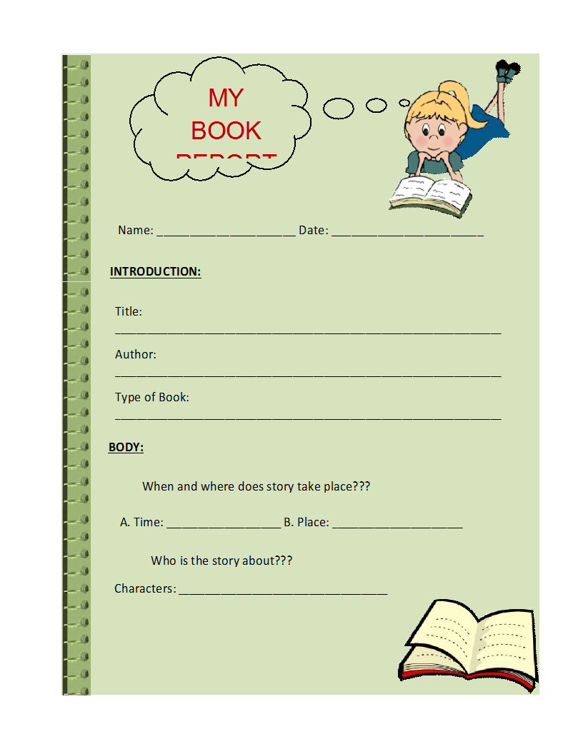 Writing a book report