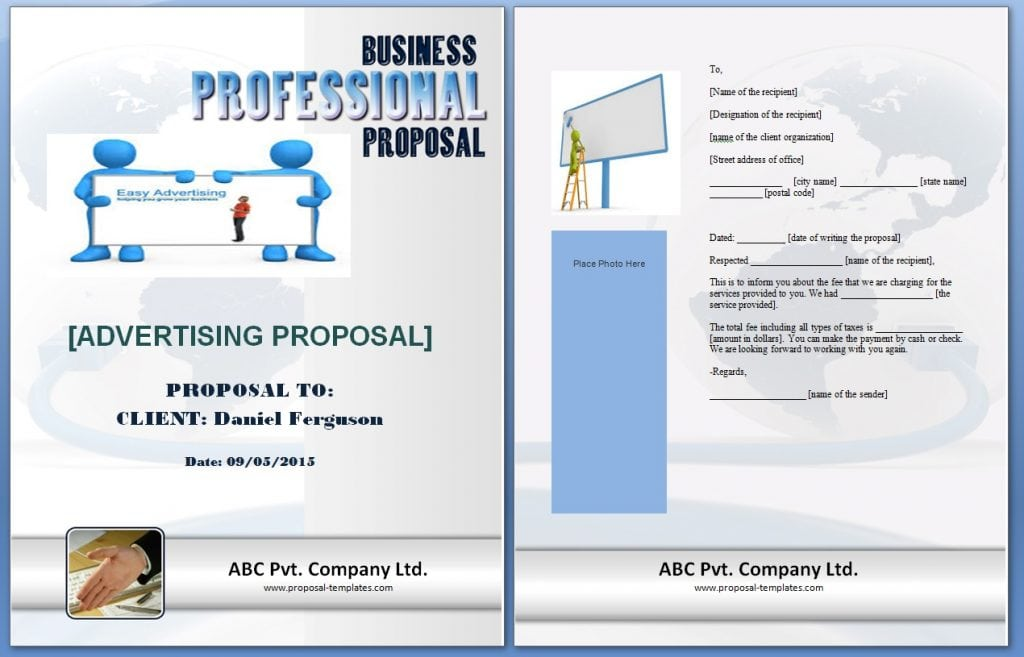Free Sample Templates  Proposal Templates For Word