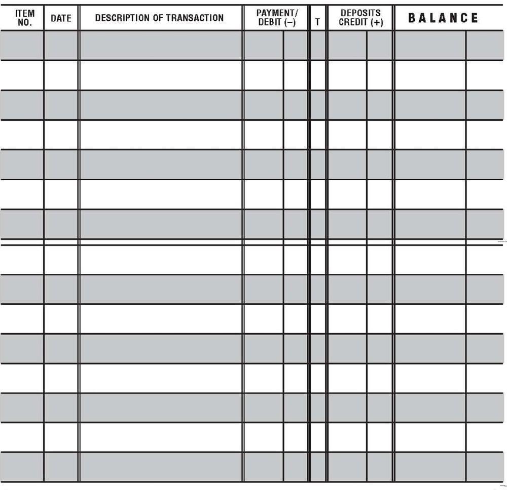 5 Printable Check Register Templates formats Examples in Word Excel – Check Registers