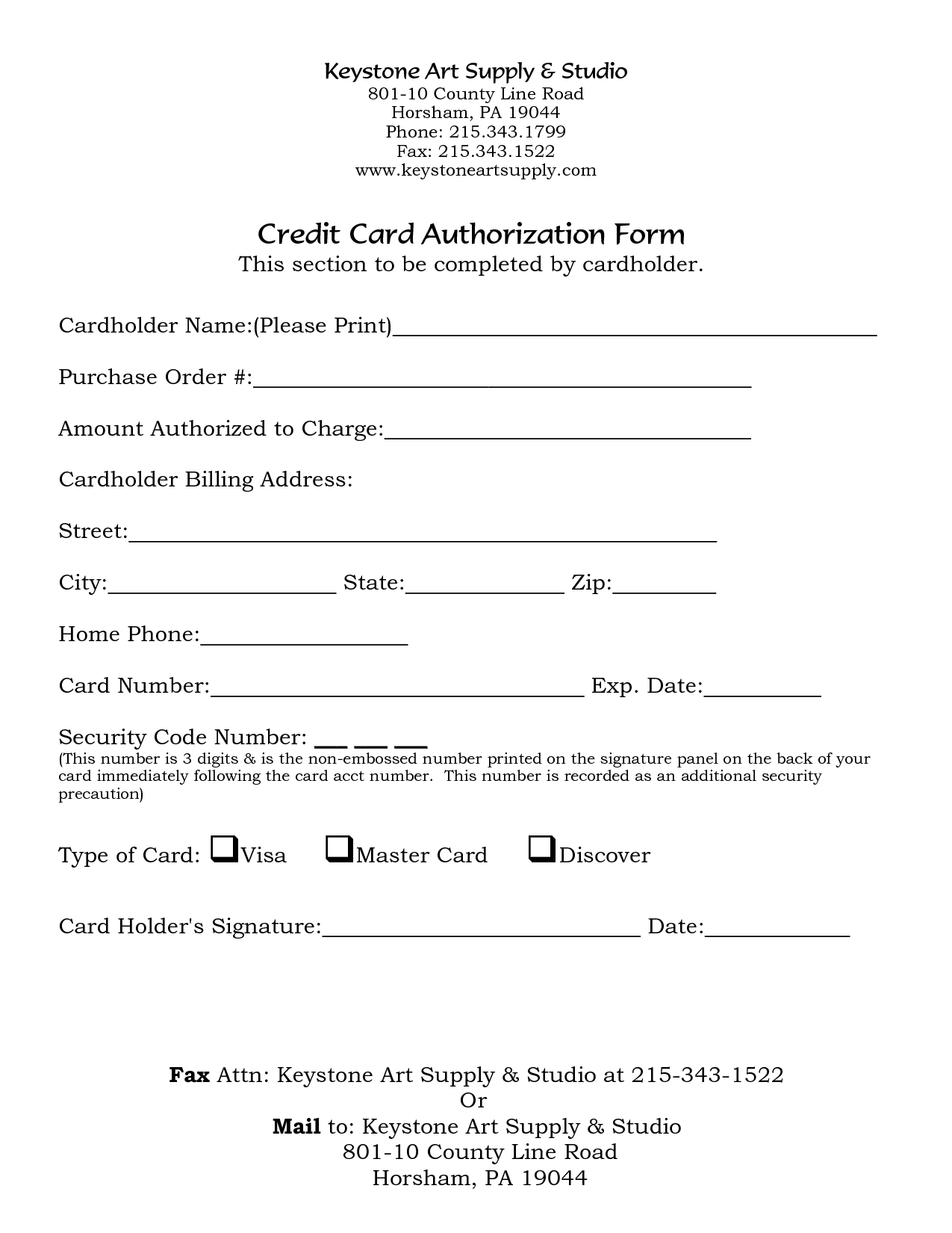 5 Credit Card Form Templates Formats Examples In Word Excel