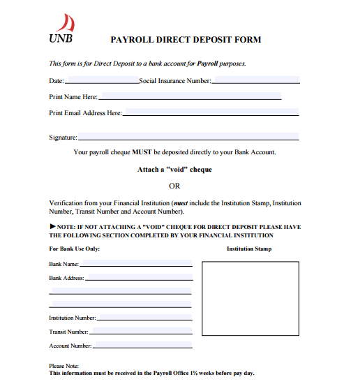 4 Direct Deposit Form Templates Formats Examples In