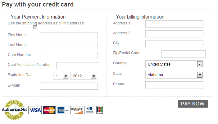 5 Free Credit Card Payment Form Templates - formats, Examples in ...