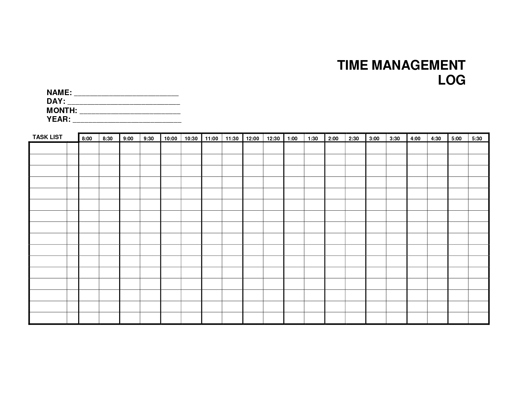5 Log Sheet Templates formats Examples in Word Excel – Time Log Template