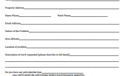 Vehicle Maintenance Request Form Template Archives - Free Sample ...