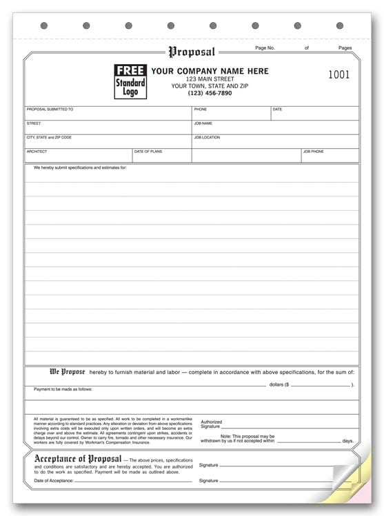 Genius image in free printable proposal forms