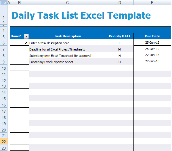 Free Sample Templates  Employee Task List