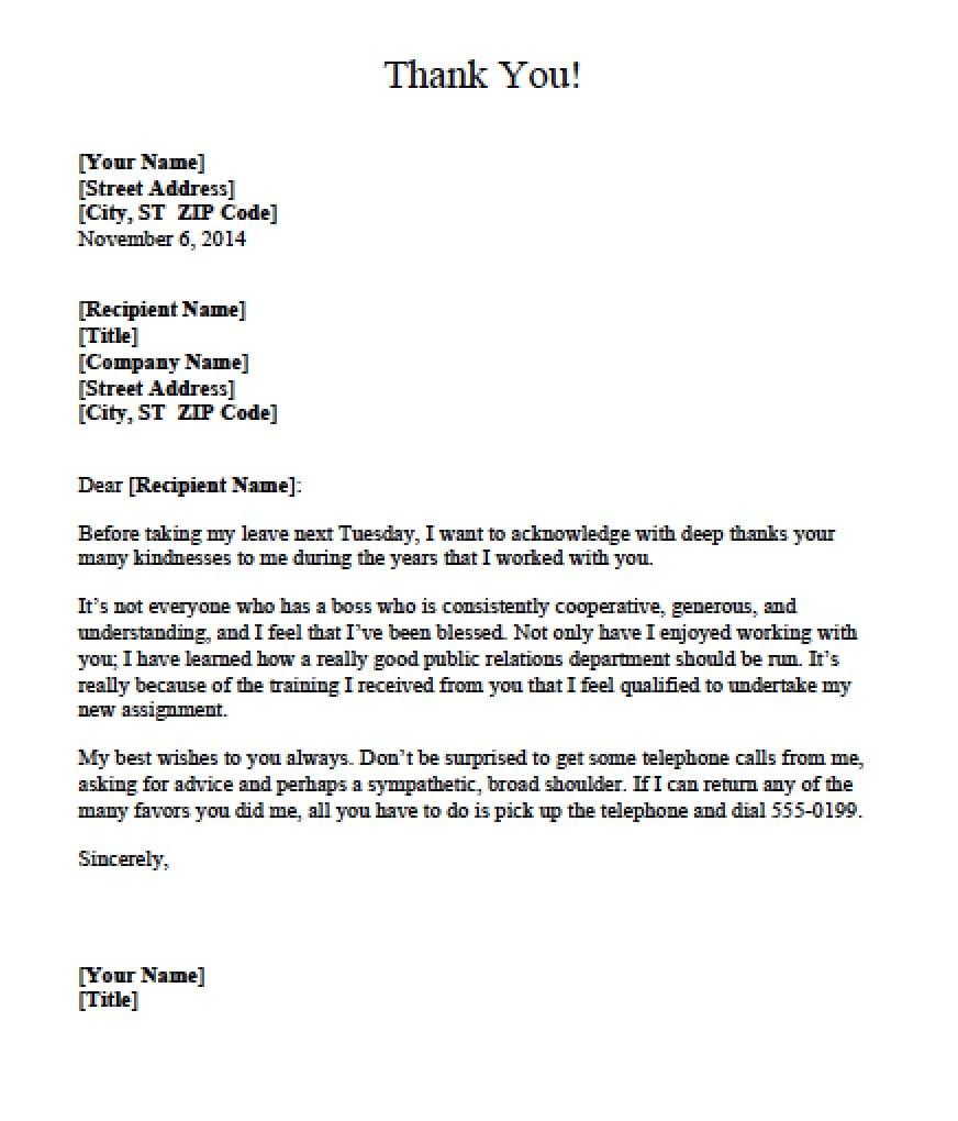5 appreciation letter templates formats exles in