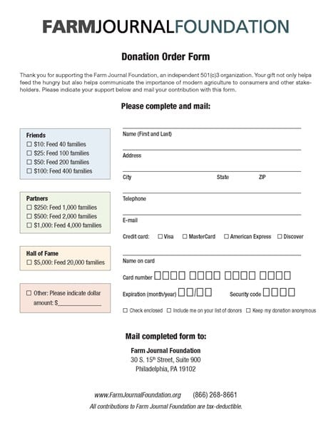 nonprofit donation form