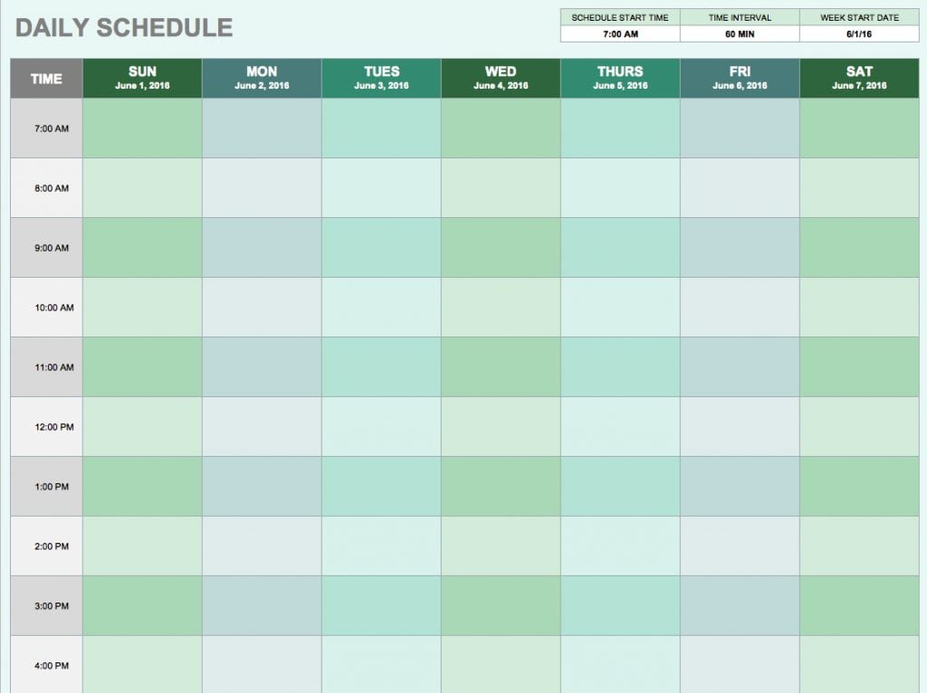 5 Daily Schedule Templates - formats, Examples in Word Excel