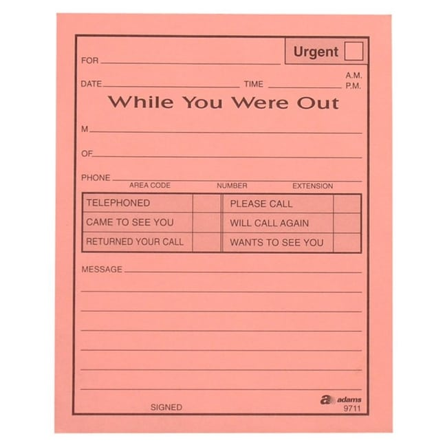 5 While You Were Out Templates - formats, Examples in Word ...