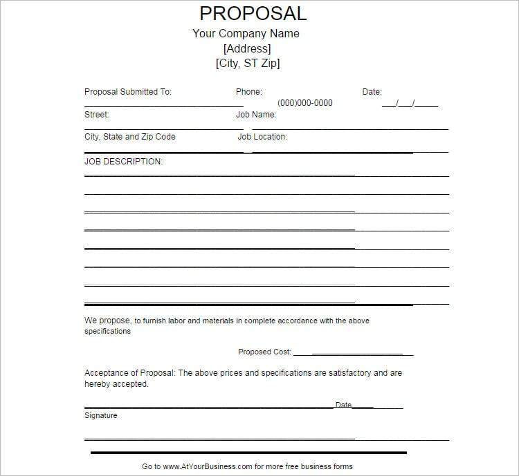 Work Proposal Template