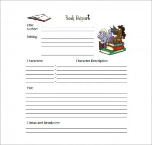 book report template image 3