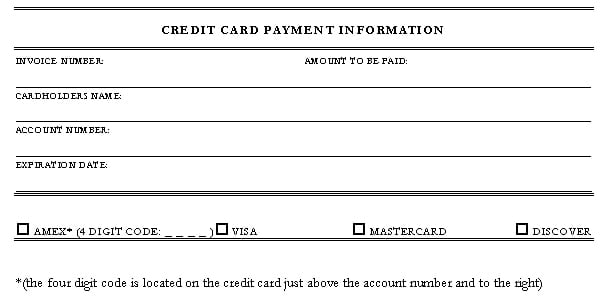 credit card authorization form template 974