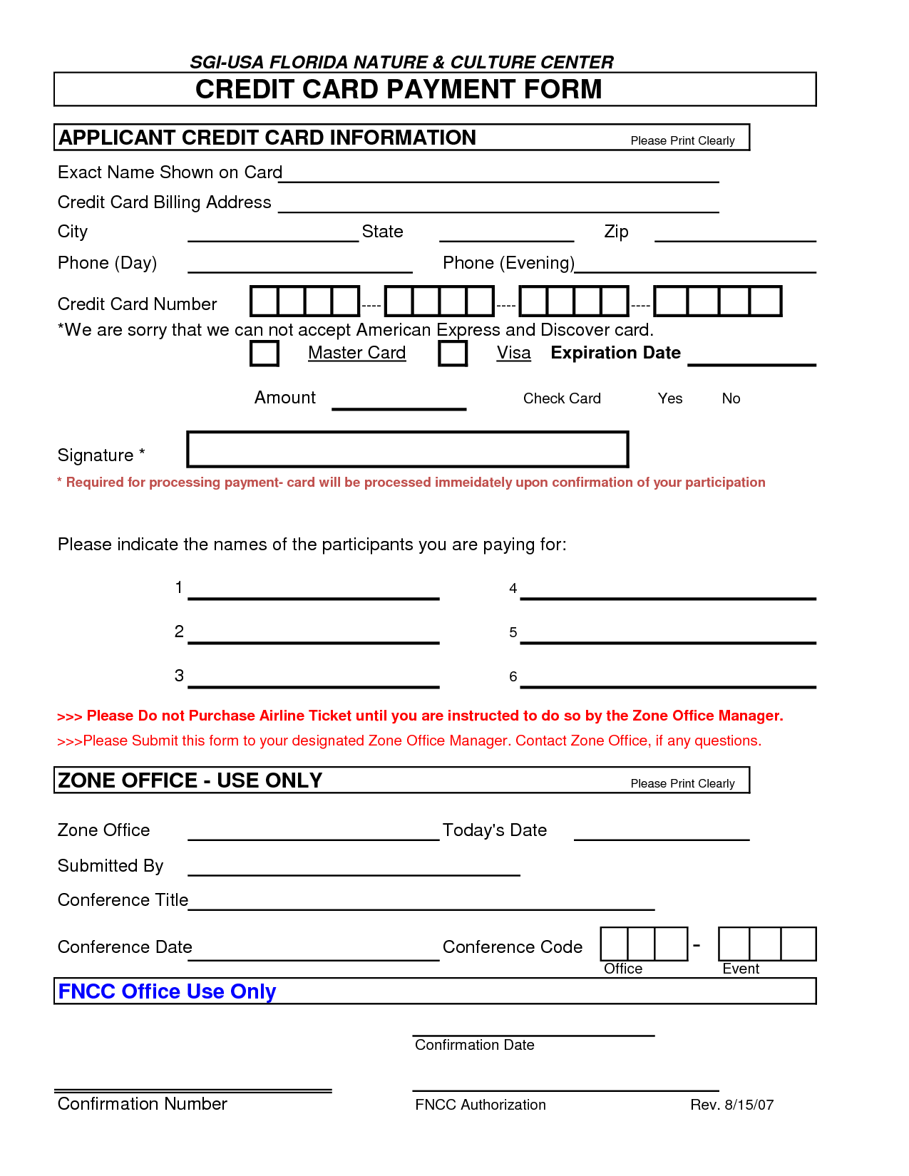 credit card authorization form template 9748