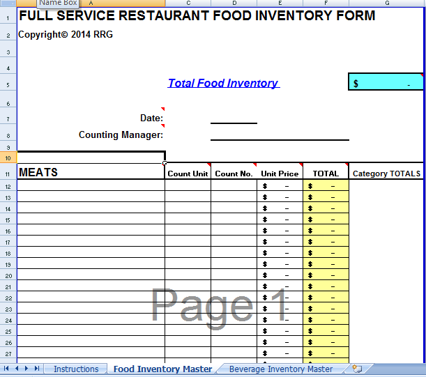 excel inventory template 641