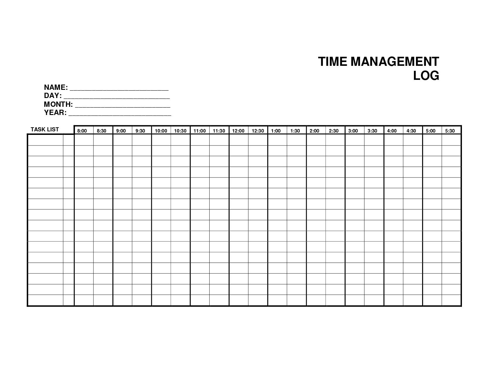log sheet template 9654