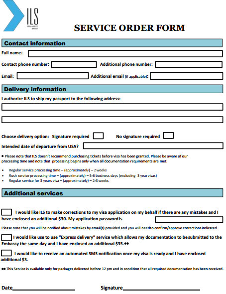 5 service order templates free sample templates
