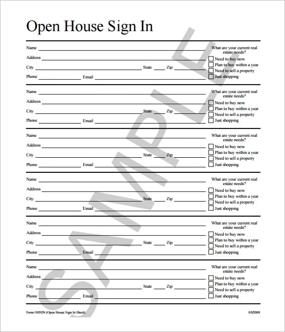 sign in sheet template 3451