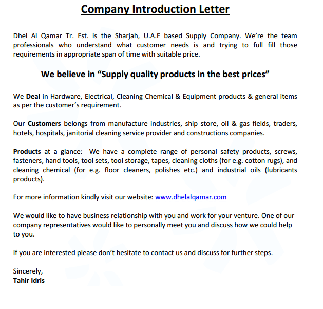 8 Customer Introduction Email Template: 4 Company Introduction Email Samples